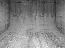 Concrete interior with rounded edge 3 d Royalty Free Stock Image