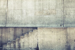 Concrete interior with stairway on the wall Royalty Free Stock Photo