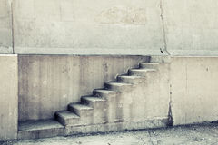 Concrete interior with stairway on the wall Stock Images