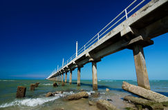 Concrete jetty. Beautiful blue sky with concrete jetty Royalty Free Stock Photos