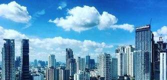 Concrete jungle. Panorama Bangkok concrete jungle, full of high buildings Royalty Free Stock Photo