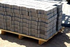 Concrete keien eady aan gebruik stock afbeelding
