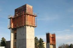 Concrete Kolommen Stock Fotografie