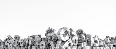 Concrete letters. 3d illustration of concrete letters isolated on white background Royalty Free Stock Photos