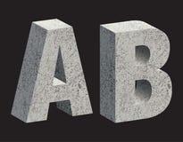 Concrete letters. Concrete 3D letters. Vector illustration royalty free illustration