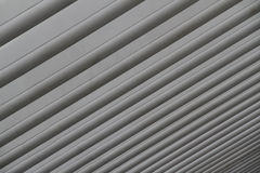Concrete Lines. Closeup on the concrete dome of a modern station royalty free stock photos