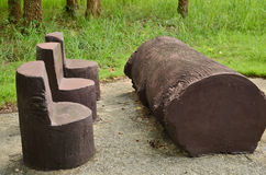 Concrete log set for exercise Royalty Free Stock Image
