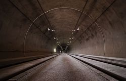 Concrete Long Tunnel Royalty Free Stock Photography
