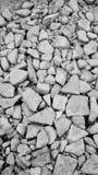 Concrete lump. Black and white background stock photos