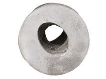 Concrete manhole chamber cover Stock Image