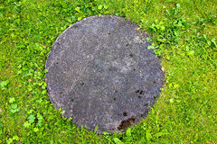 Concrete manhole cover Stock Images