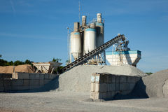 Concrete manufacturing processing plant Stock Image