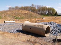 Concrete material by a construction site Royalty Free Stock Image