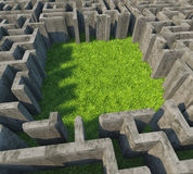Concrete maze Royalty Free Stock Image