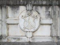 Concrete medieval emblem Royalty Free Stock Photo