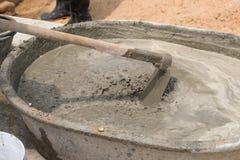 Concrete mengeling Stock Foto's