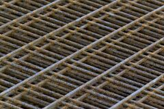 concrete mesh reinforcement Royalty Free Stock Photography