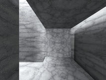 Concrete minimalistic interior. Abstract architecture background Stock Images