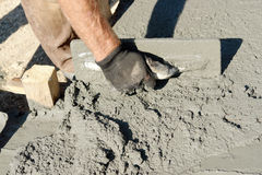 Concrete mix spread Stock Photos