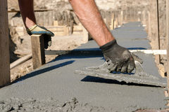 Concrete mix spread Stock Images