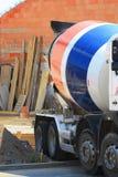 Concrete mixer. Car building construction Stock Photo