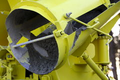 Concrete Mixer. Side view of a yellow concrete mixer Stock Photography