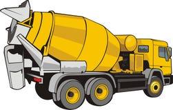 Concrete mixer. Vector scene of the building mixer for concrete Royalty Free Stock Image