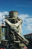 Concrete mixer. With a cloudly sky royalty free stock photos