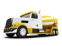 Concrete mixer. Isolated concrete mixer with clipping path Stock Photography