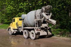 Concrete mixer Stock Foto's