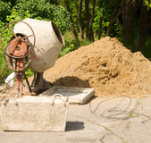 Concrete mixer Stock Images