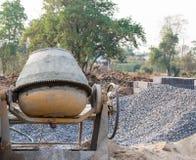 Concrete mixer on building site Stock Image