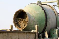 Concrete mixer at the construction site Stock Image