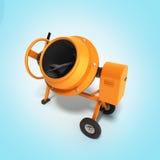 Concrete mixer 3D illustration on gradient bacground Royalty Free Stock Photo