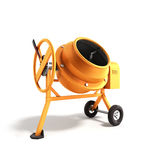 Concrete mixer 3D illustration on white bacground. Image Royalty Free Stock Photography