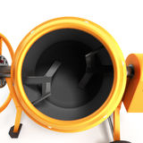 Concrete mixer 3D illustration on white bacground Stock Photos