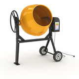 Concrete mixer. In 3D  on white background Stock Photo