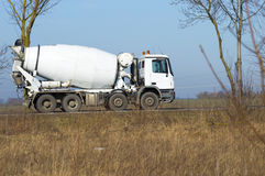 Concrete mixer. Concrete concrete mixer with the delivery of the construction Stock Image