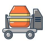 Concrete mixer icon, cartoon style Stock Photography