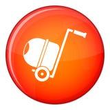 Concrete mixer icon, flat style Royalty Free Stock Image