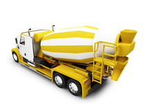 Concrete mixer isolated with clipping path Royalty Free Stock Photography