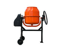 Concrete mixer isolated Stock Images