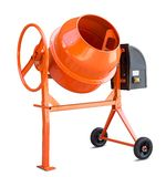Concrete mixer isolated with clipping path Stock Image