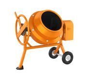 Concrete Mixer Isolated royalty free illustration