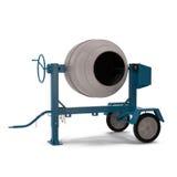 Concrete mixer isolated on white 3D Illustration Stock Photos