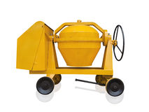 Concrete mixer machine isolated on the white background,clipping Stock Image