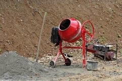 Concrete mixer. Portable cement mixer at a construction work royalty free stock photo