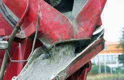 Concrete mixer pouring concrete Royalty Free Stock Photo