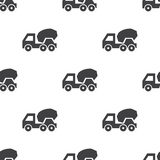 Concrete mixer,  seamless pattern Stock Photography