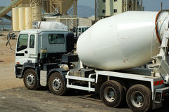 The concrete mixer truck Stock Image